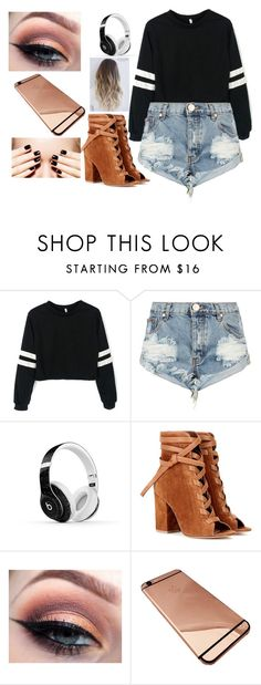 """""""Cute :)"""" by nialls-wife1 on Polyvore featuring One Teaspoon, Beats by Dr. Dre and Gianvito Rossi"""
