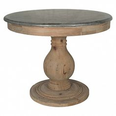 Pedestal side table with stone top - Trade Secret