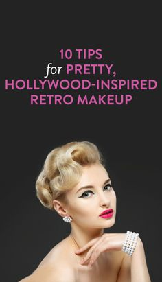 how to tastefully do retro makeup #beauty