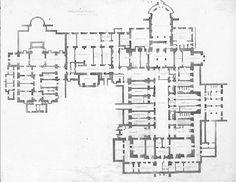 Grundriss villa  Villa Hugel - Second floor plan (grundriss) | Castles, châteaux ...