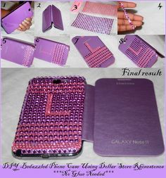 The Do It Yourself Lady:  DIY Bedazzled Phone Case with Rhinestones