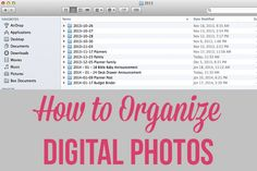 How to Organize Digital Photos  - Learn Anything Online @ NO B.S. University http://www.NOBSU.com Pin Now, Use Later