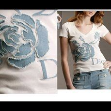 Sewing clothes upcycle design 59 new Ideas Towel Embroidery, Embroidery Flowers Pattern, Embroidery Monogram, Embroidery Ideas, Couture Embellishment, Fabric Embellishment, Diy Clothes Embellishments, Diy Embroidery For Beginners, Sewing Blouses