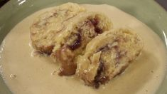 Jam roly poly with custard