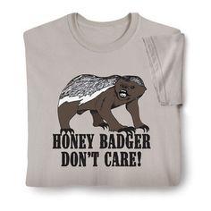 Honey Badger Shirts - Zoom View
