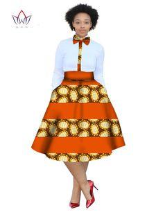 2017 christmas dress Plus Size 2 Pieces African Print Dashiki Shirt Skirt Set Bazin Rche Femme Africa Clothing natural - weihnachten African Fashion Ankara, African Inspired Fashion, Latest African Fashion Dresses, African Print Fashion, African Wear, African Attire, African Print Skirt, African Print Dresses, African Dresses For Women