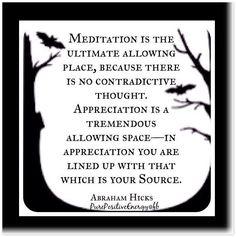 Meditation and Appreciation