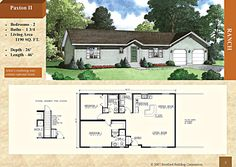 Modular Ranch Style Home - Paxton II 1190 sq. Recessed entry, kitchen island, master bedroom bath with shower Stratford Homes, Modular Floor Plans, Ranch Style, Living Area, Kitchen Island, Master Bedroom, Bath, Flooring, Shower