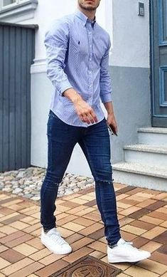 👌 Cool Fit Jeans, Great Look! Formal Men Outfit, Outfits Casual, Smart Casual Outfit, Summer Outfits Men, Stylish Mens Outfits, Indie Outfits, Business Casual Outfits, Cool Outfits, Formal Outfits