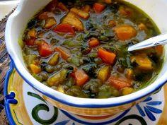 Sweet Potato Green Lentil Soup