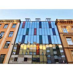 Das Foto erklärt vielleicht am besten, warum das Hotel ausgerechnet Hellstens Glashus (Glashaus) heißt. 😉