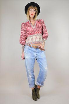 vtg 70's LEVI'S 501 Boyfriend Jeans ///  NOIROHIO VINTAGE