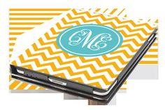 iPad Mini Case - Chevron Personalized Monogram Tablet Book Cover. $65.00, via Etsy.