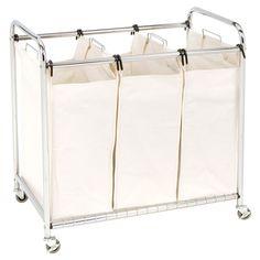 3 bag laundry sorter. Seville Classics 3 Bag Laundry Sorter