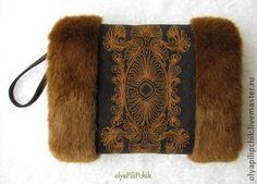 муфта меховая с вышивкой рыжая - рыжий,украшение,для рук,зимняя мода,зимняя одежда