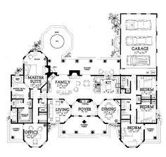 Mediterranean House Plan chp-49932 at COOLhouseplans.com