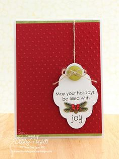 Beautiful CAS card by Debby Hughes.