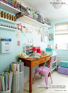 As featured in Prima Makes - craft room shelving & storage ideas