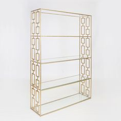 Hays Gold Leafed Etagere by Worlds Away