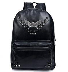 Bromeo Super Cool Skull Angel Wings Rivets Soft Pu Leather Backpack School Travel Casual Shoulder Bags Handbag (Black) Bromeo http://www.amazon.co.uk/dp/B00WU9FH9S/ref=cm_sw_r_pi_dp_-.8Ywb183XYF0