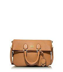 New bag needed...Tory Burch Robinson Pebbled Foldover Messenger...