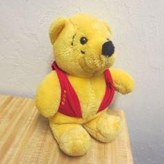 Vintage Winnie The Pooh Corduroy Vest Plush Pooh Bear Much Loved Tag Worn