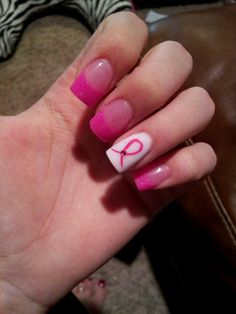 Nails. Breast cancer. ...ironic that the majority of nail polishes have cancer causing ingredients in them. Wise up.