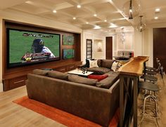 modern man cave ideas | Guest Blogger: How To Create a Sophisticated Man Cave | Home Staging ...