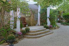 NEW look for 'Rose Garden' outdoor garden chapel for your intimate romantic ceremony in the heart of Niagara Falls
