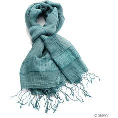 Teal Stripe Scarf ($20) ❤ liked on Polyvore featuring accessories, scarves, teal shawl, striped shawl, fringe scarves, teal scarves and striped scarves