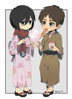 Mikasa Chibi, Mikasa X Eren, Eren Aot, Attack On Titan Comic, Attack On Titan Ships, Attack On Titan Fanart, Eremika, Cute Cartoon Wallpapers, Manga Drawing