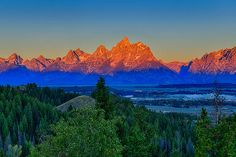 Alpenglow Across the Valley by Greg Norrell from the #Tetons #nature. Prints start at $30.