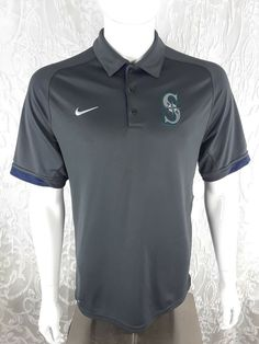 5fc0ffec Nike Men's Seattle Mariners Dri-FIT Polo Dark Gray Sz Small Authentic  Collection #Nike