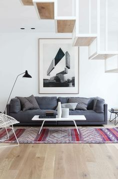 home design Idunsgate by Haptic Architects Living Area, Living Spaces, Living Room, Interior Architecture, Interior And Exterior, Piece A Vivre, Loft Spaces, Scandinavian Interior, Scandinavian Living