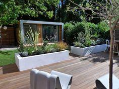 Amazing Garden Fence Ideas Exciting Garden Landscaping Ideas Nice Lighting Collaboration, Small Contemporary Modern London Garden Design Ter...