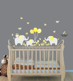 Amazon.com: Elephant Wall Decals, Balloon Wall Stickers, Elephant Decal: Baby