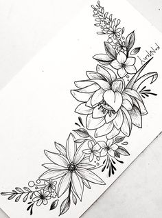 Tattoo Drawings 49989 Floral Tattoo Designs for the Season – lilostyle Flower Art Drawing, Beautiful Flower Drawings, Flower Tattoo Drawings, Small Flower Tattoos, Flower Sketches, Tattoo Sketches, Art Drawings, Tattoo Flowers, Drawing Sketches