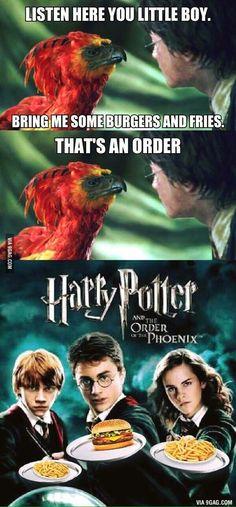 Haha get it? ORDER of the Phoenix?