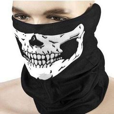 >> Click to Buy << New Halloween Skull Skeleton Outdoor Motorcycle Bicycle Multi function Headwear Hat Scarf Half Face Mask Cap Neck Ghost Scarf #Affiliate