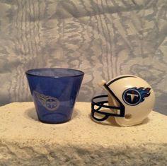 NFL MINI PLASTIC HELMET (2010) & Plastic SHOT CUP (2009) Tennessee Titans