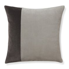 Suede and Velvet Pillow Cover with Linen Back, 20
