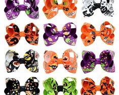 Halloween Grosgrain Ribbon Bows With Clip Ghost Pumpkin Pinwheel Hair Clips Baby Girl Boutique, Boutique Hair Bows, Feather Hair Clips, Metal Hair Clips, Baby Glitter, Halloween Hair Bows, Baby Girl Hair Bows, Ghost Pumpkin, Ribbon Hair Bows