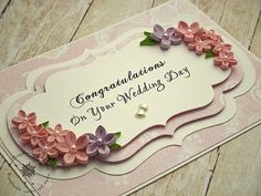 Floral wedding gift handmade card made in ireland paper quilling - by: quillingwonderland