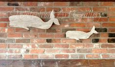 Reclaimed wood whales