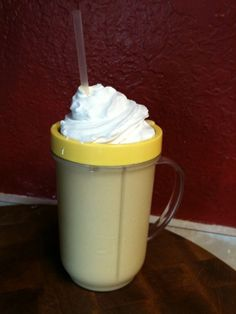 Save money by making your regular frappuccino at home! Yummy! @pappasfam4 let's try it sometime! :D