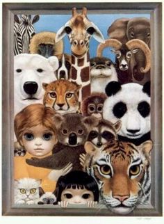 Big Eyed Girls and zoo Animals