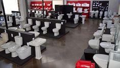 showroom Showroom Interior Design, Tile Showroom, Store Interiors, Office Interiors, Bathroom Store, Bathrooms, Bathroom Showrooms, Store Layout, Ceramic Shop