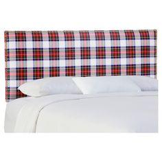 Becker Upholstered Headboard - Queen - Stewart Dress Multi - Skyline Furniture, Stewart Quartz Linen
