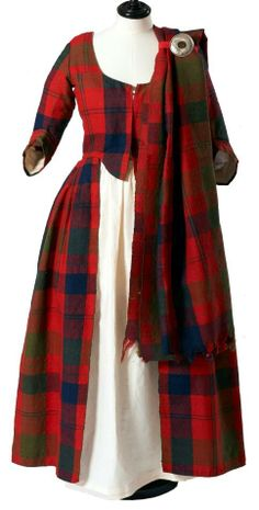 The dress was worn at, and probably made for, the wedding of Isabella MacTavish to Malcolm Fraser, both from Stratherrick, in 1785