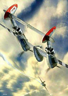 P-38 Meet First Me-163
